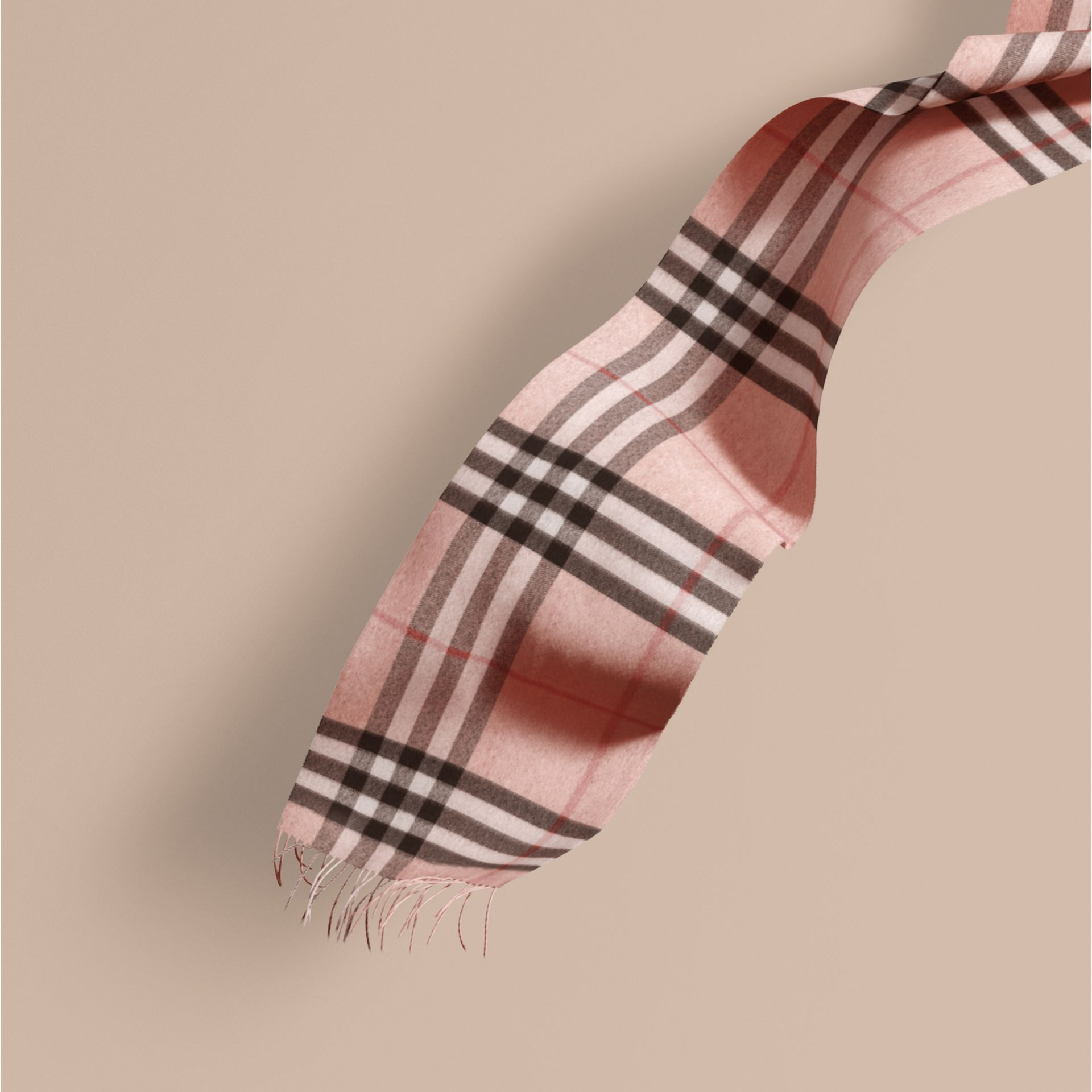 Ash rose The Classic Cashmere Scarf in Check Rose - gallery image 1