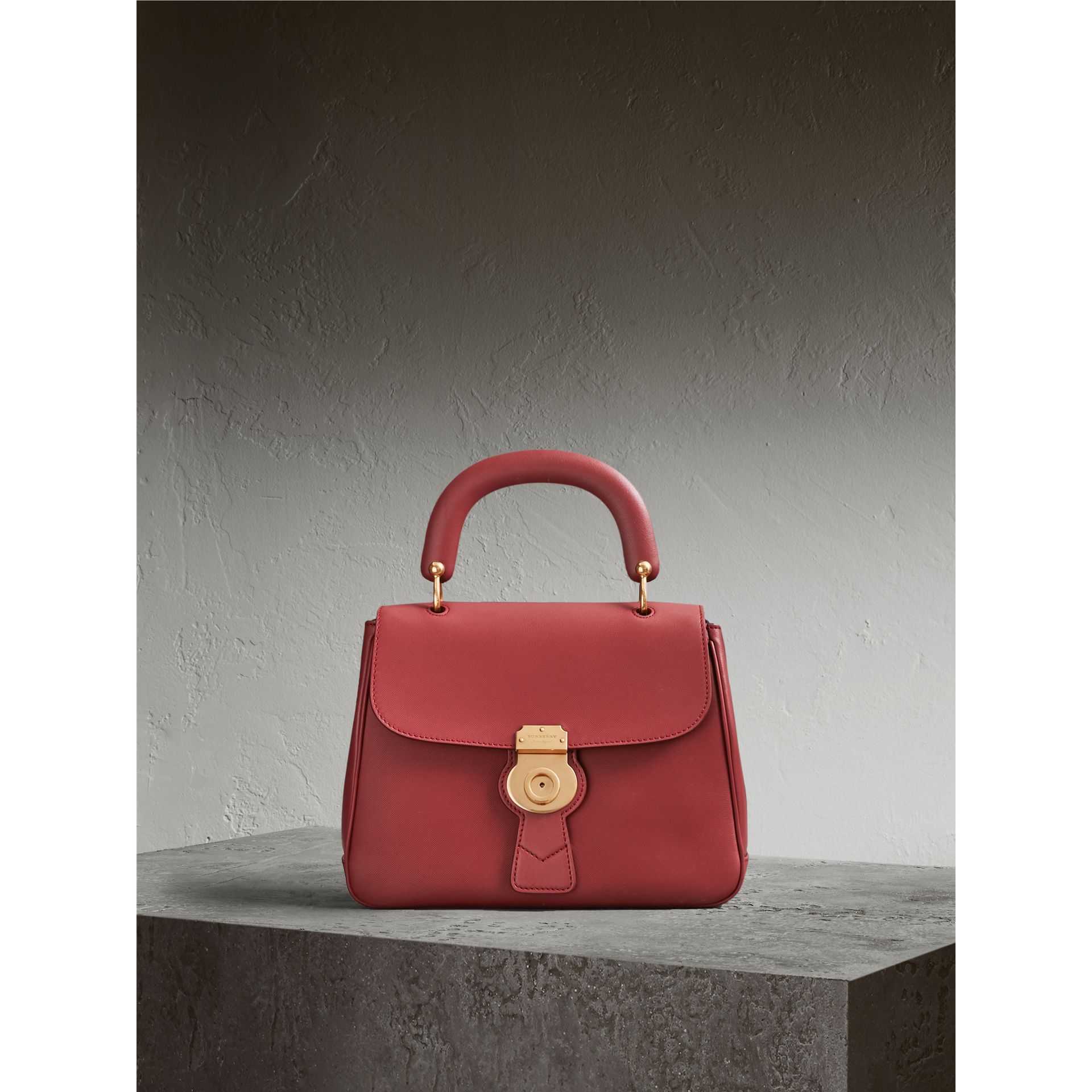 The Medium DK88 Top Handle Bag in Antique Red - Women | Burberry Australia - gallery image 1