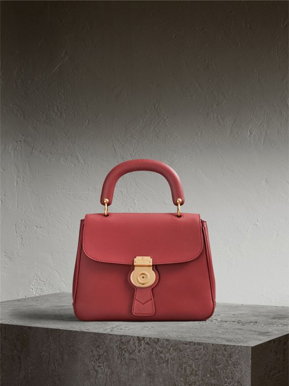 The Medium DK88 Top Handle Bag in Antique Red