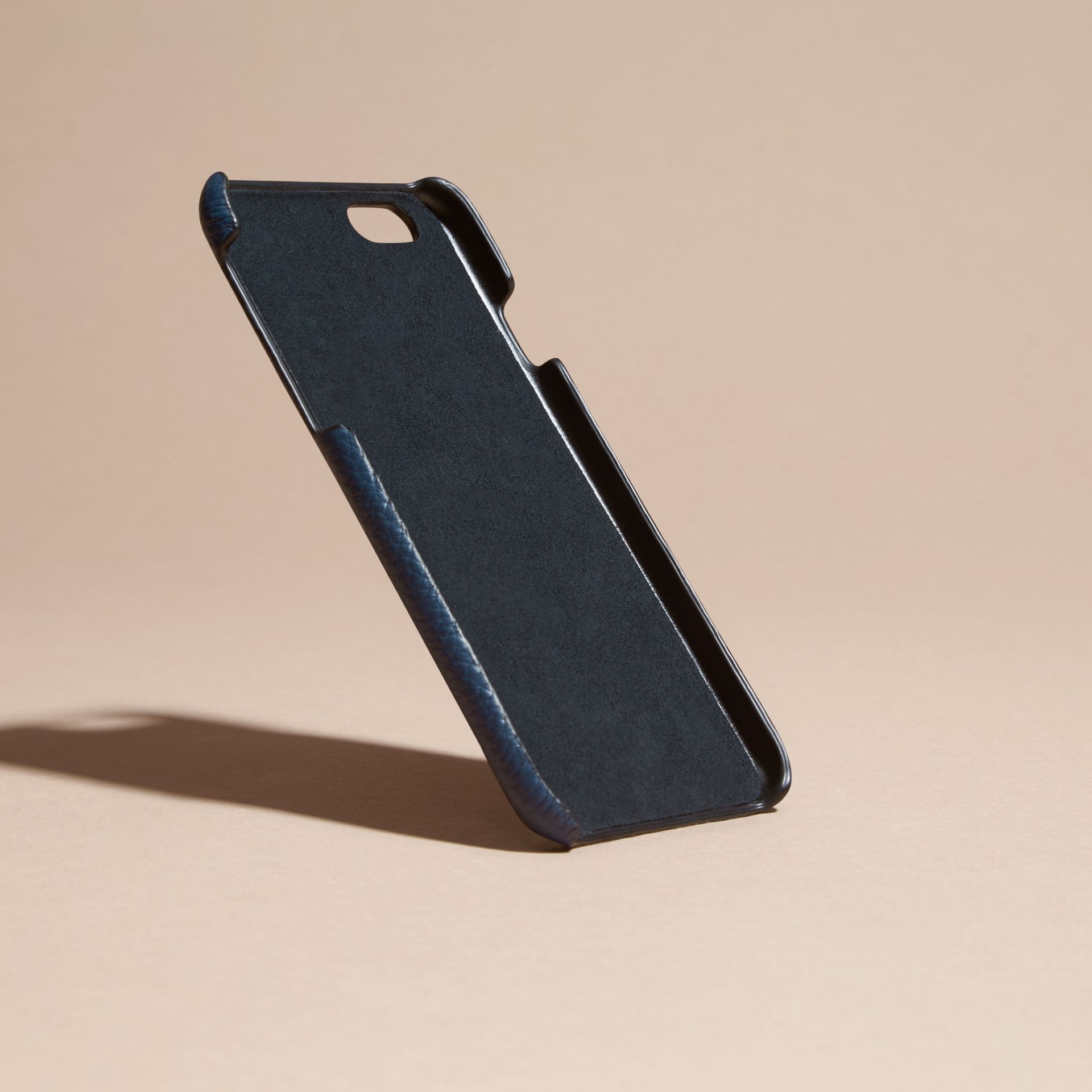 Grainy Leather iPhone 6 Case in Bright Navy | Burberry - gallery image 4