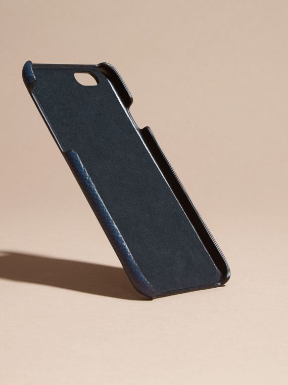 Grainy Leather iPhone 6 Case in Bright Navy | Burberry - cell image 3