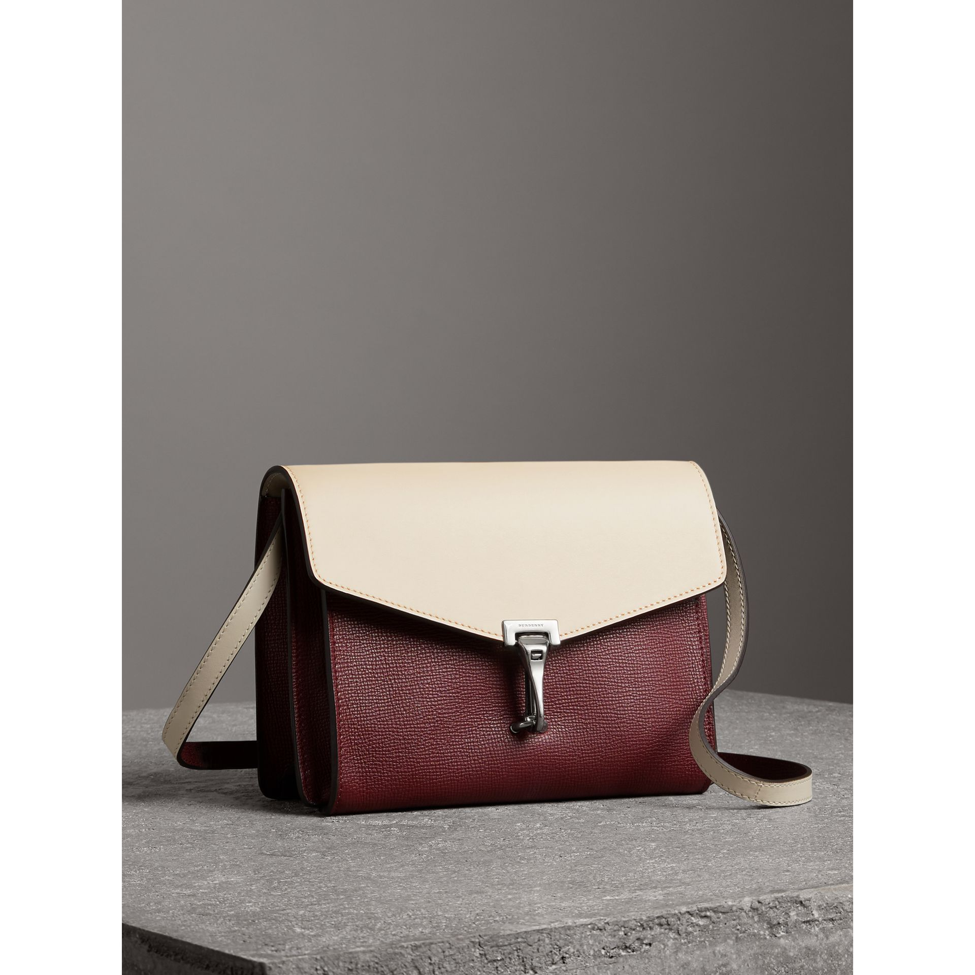 Two-tone Leather Crossbody Bag in Mahogany Red/limestone - Women | Burberry - gallery image 6