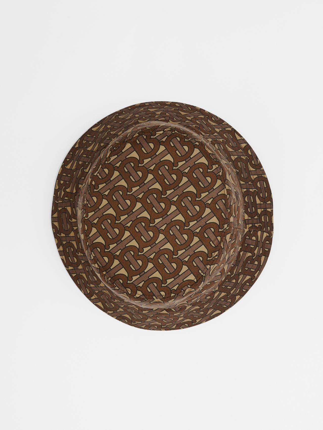 Monogram Print ECONYL® Bucket Hat (Bridle Brown)