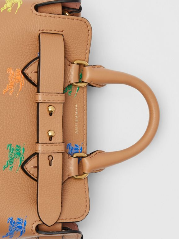 The Mini Equestrian Knight Leather Belt Bag in Light Camel - Women | Burberry - cell image 1