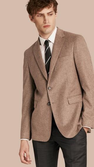 Veste ajustée moderne en laine, cachemire et soie