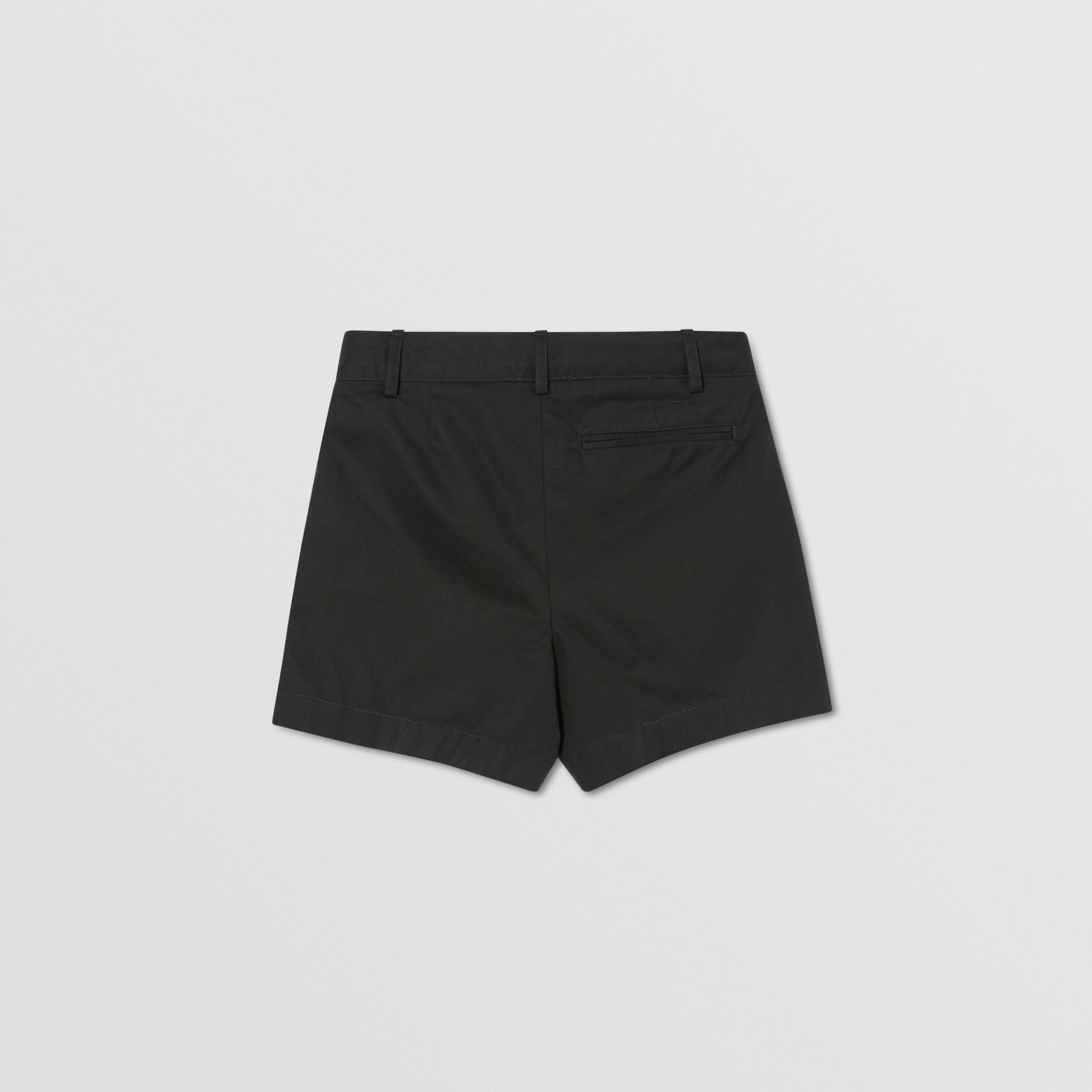 Logo Appliqué Cotton Twill Tailored Shorts in Black | Burberry - 3