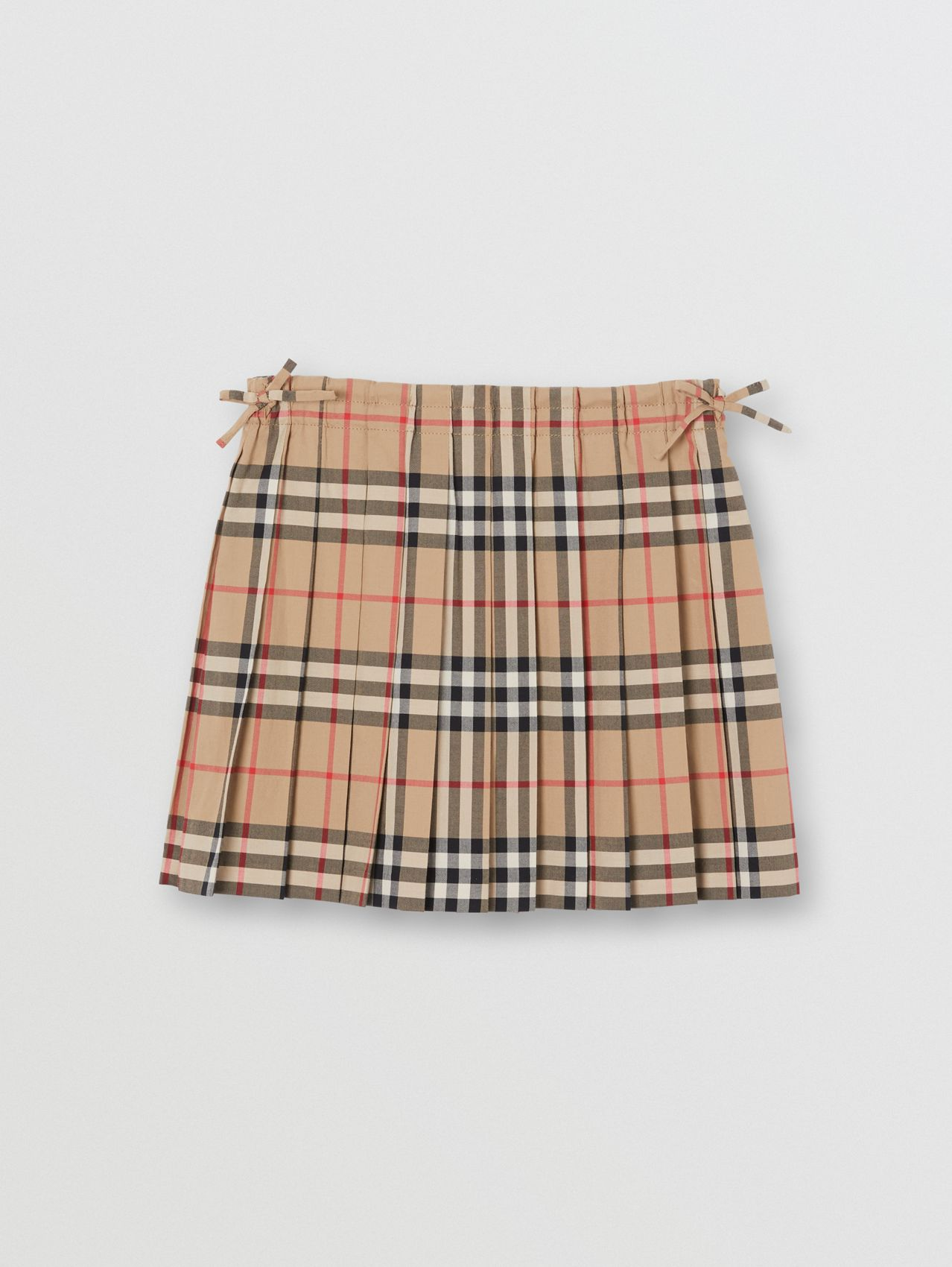 Vintage Check Pleated Skirt (Archive Beige)