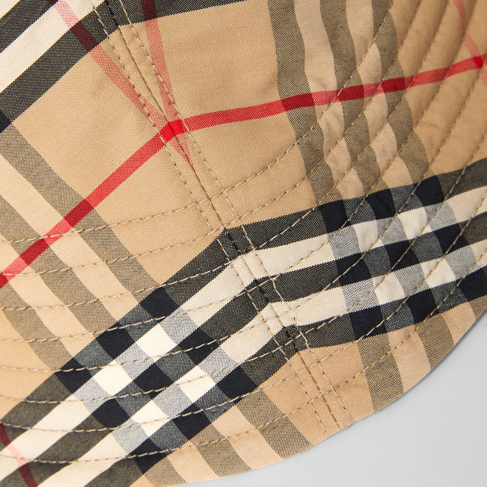 Vintage Check Rain Hat in Archive Beige | Burberry United Kingdom - gallery image 3
