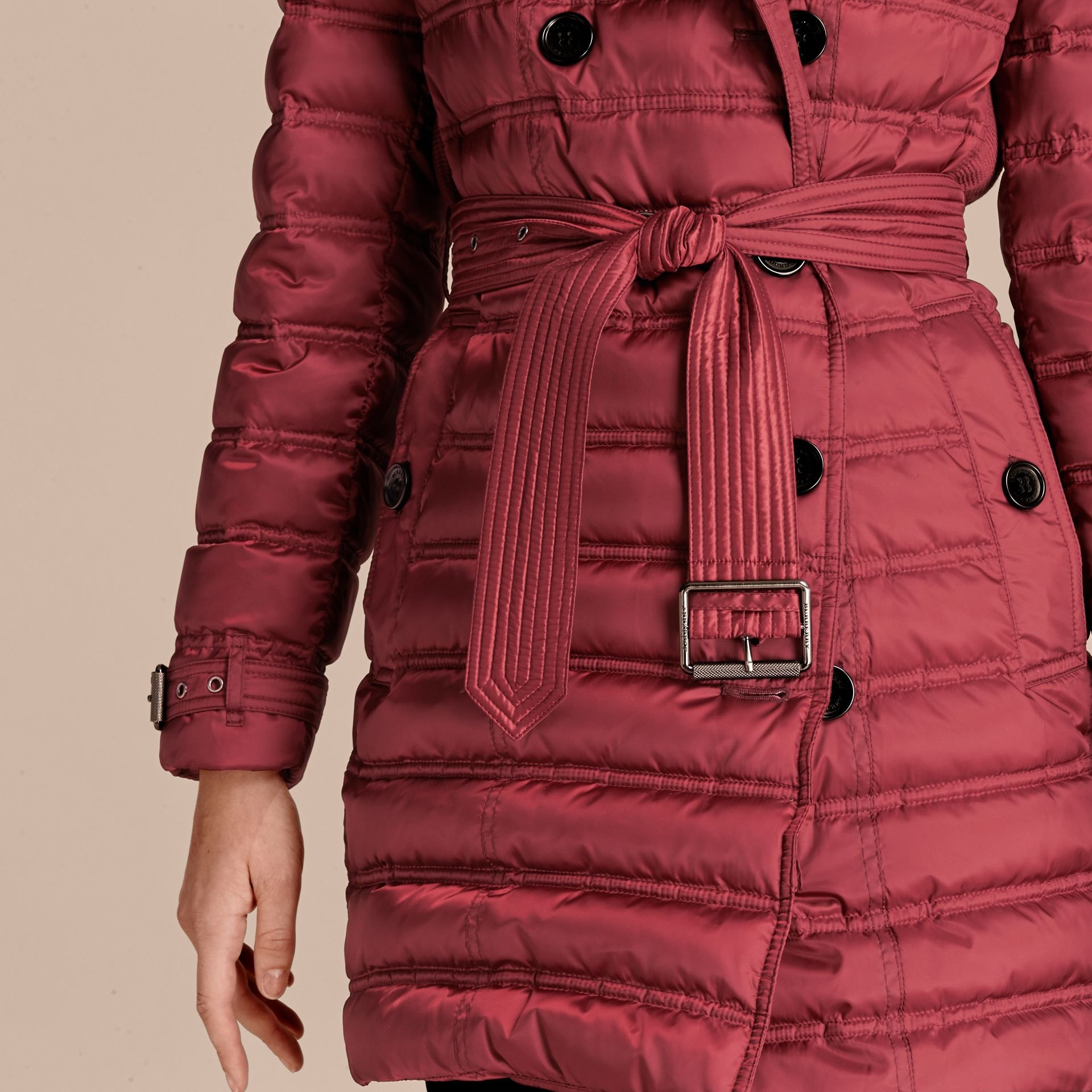 Dark crimson Down-filled Puffer Coat Dark Crimson - gallery image 5