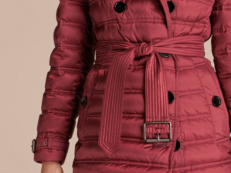 Dark crimson Down-filled Puffer Coat Dark Crimson - cell image 4