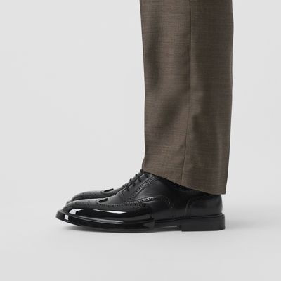 Toe Cap Detail Leather Oxford Brogues