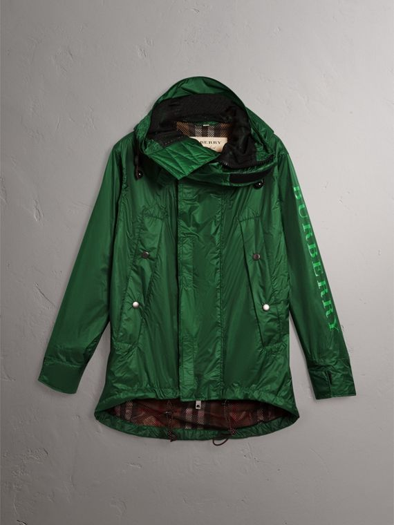 Lightweight Hooded Jacket in Pigment Green - Men | Burberry United States - cell image 3