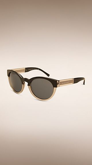Two-tone Round Frame Sunglasses