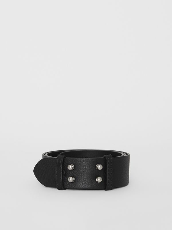 The Small Belt Bag Grainy Leather Belt in Black - Women | Burberry Canada - cell image 2