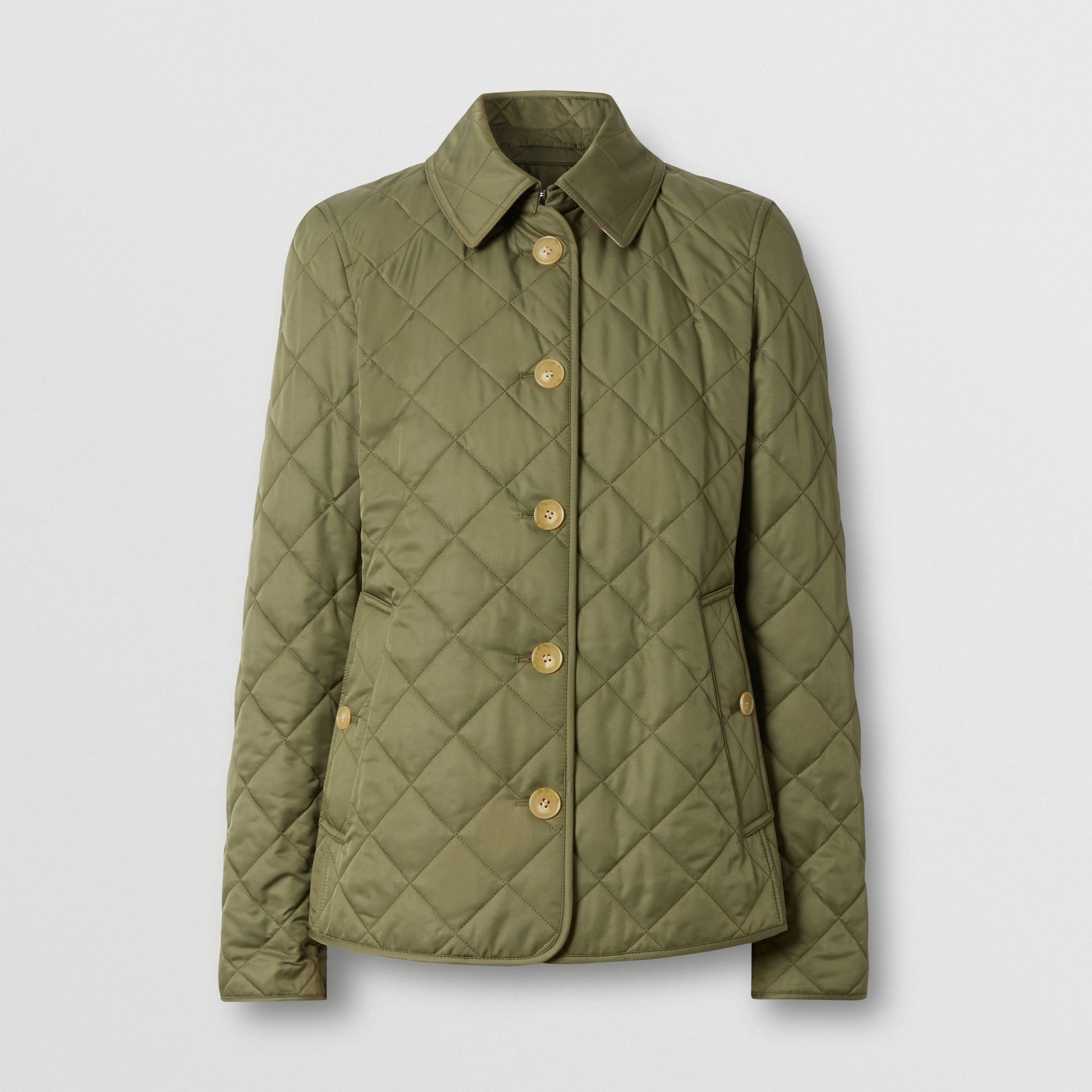 Diamond Quilted Jacket in Olive Green - Women | Burberry Hong Kong S.A.R - gallery image 3