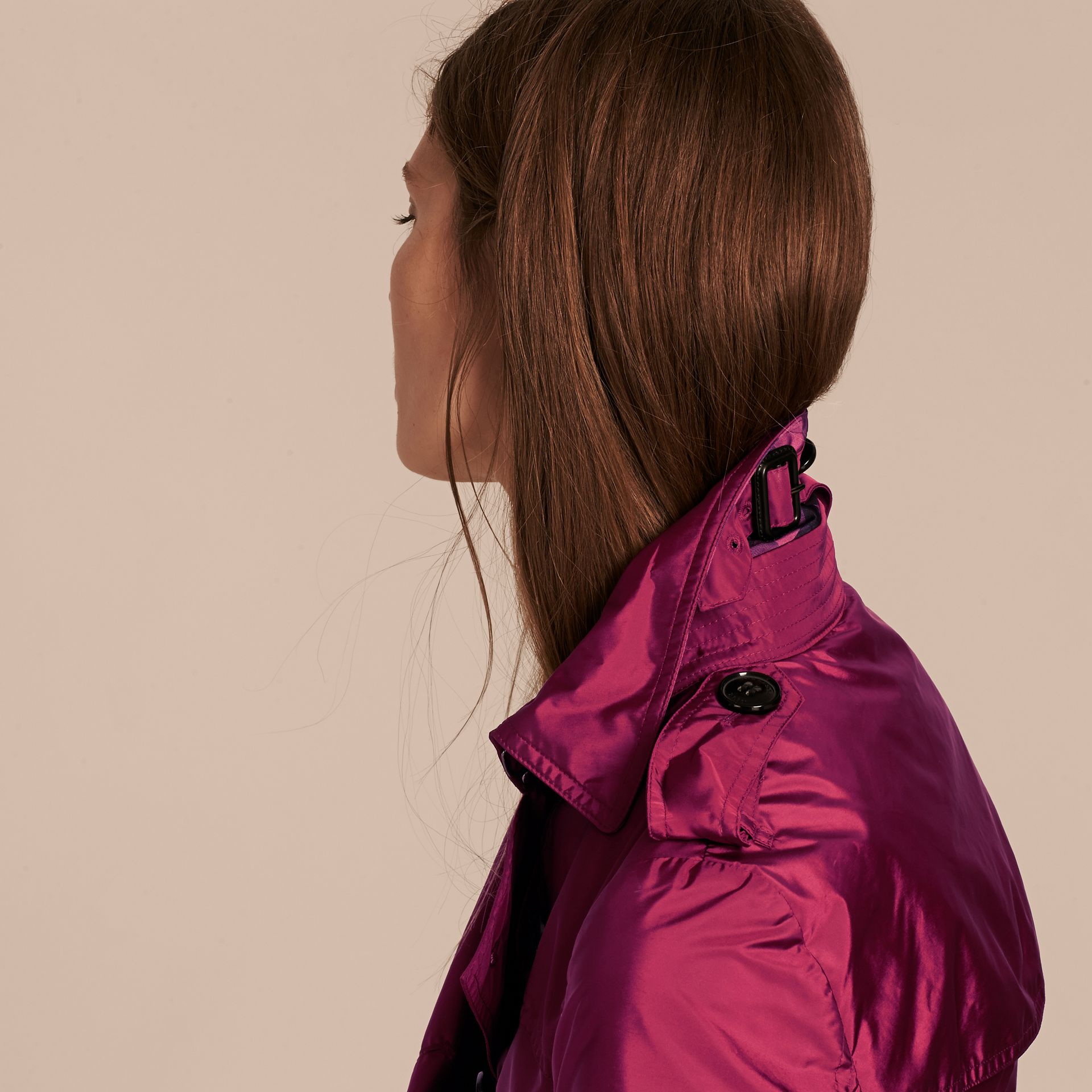 Berry pink Lightweight Trench Coat Berry Pink - gallery image 6