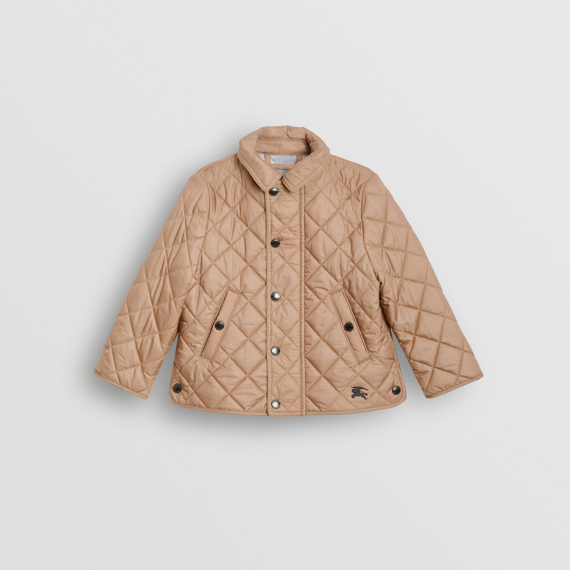 Lightweight Diamond Quilted Jacket in Camel - Children | Burberry - gallery image 0