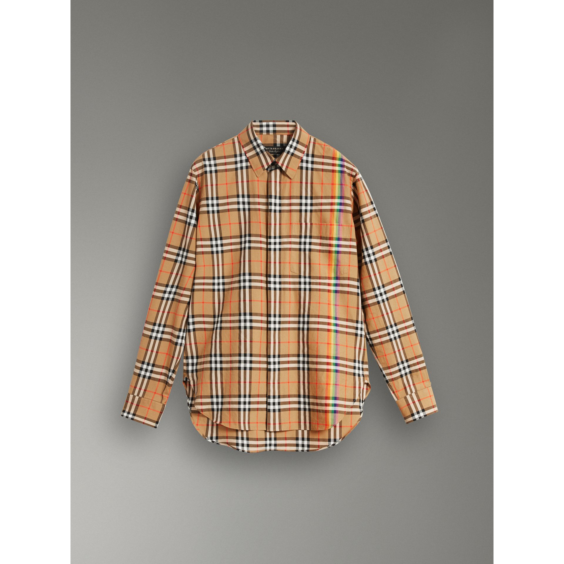 Rainbow Vintage Check Shirt in Antique Yellow - Men | Burberry United States - gallery image 3