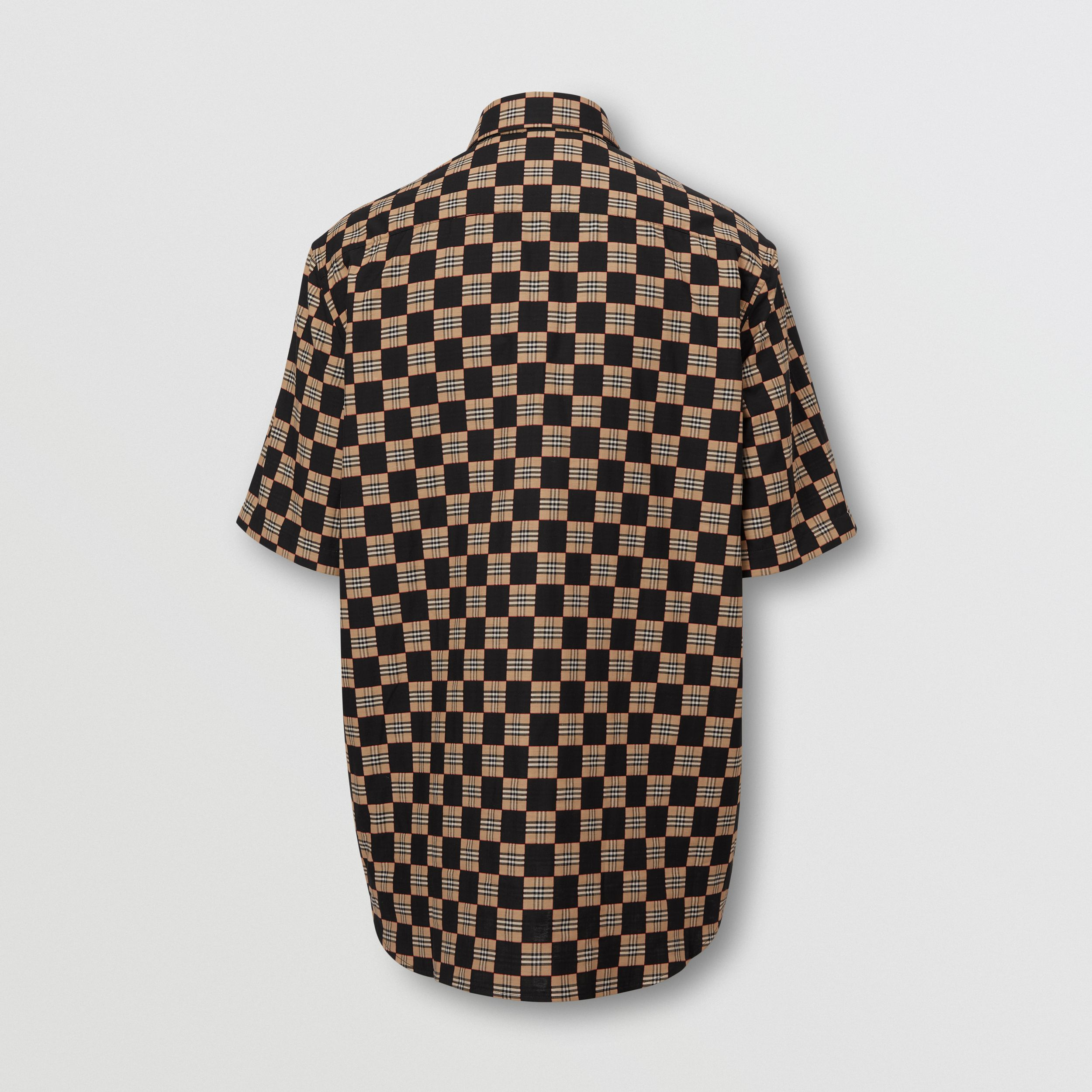 Short-sleeve Chequer Print Cotton Shirt | Burberry - 2