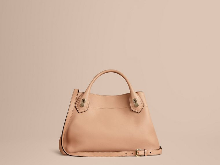 Pale apricot The Medium Milton in Grainy Leather Pale Apricot - cell image 4