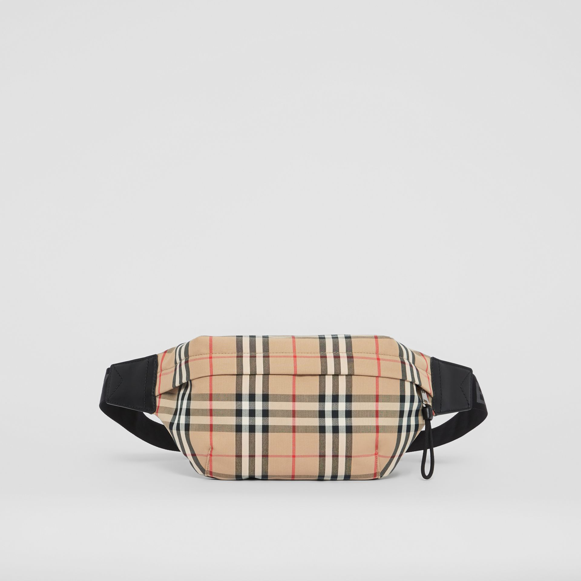 Medium Vintage Check Bonded Cotton Bum Bag in Archive Beige - Men | Burberry United Kingdom - gallery image 0