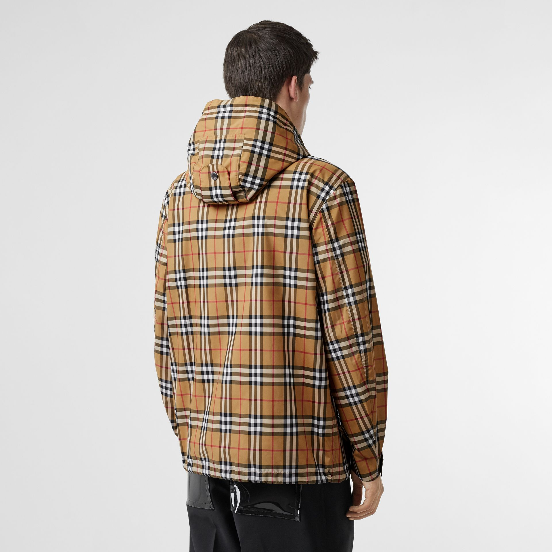 Vintage Check Lightweight Hooded Jacket in Antique Yellow - Men | Burberry - gallery image 2
