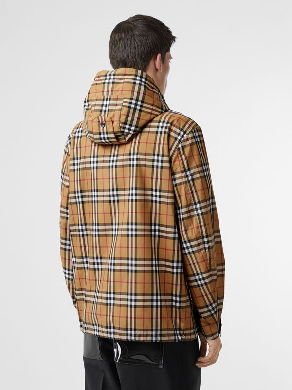 Vintage Check Lightweight Hooded Jacket in Antique Yellow - Men | Burberry - cell image 2