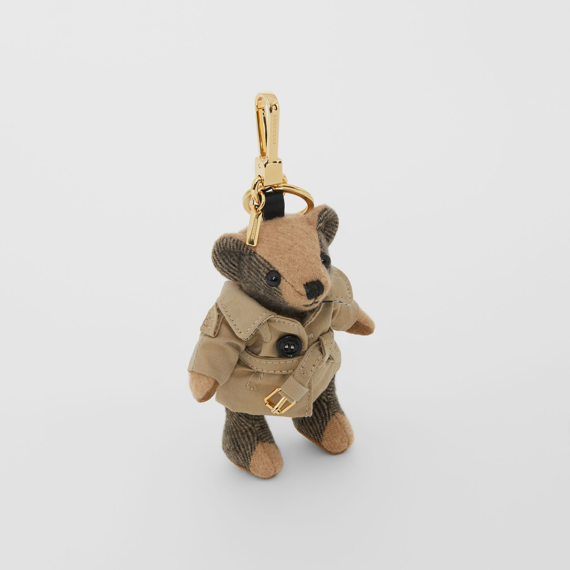 Thomas Bear Charm in Trench Coat in Camel | Burberry Singapore - gallery image 0