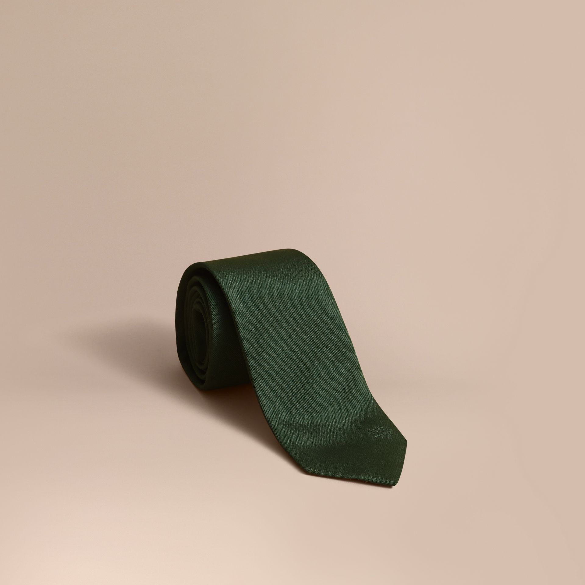 Modern Cut Silk Twill Tie in Dark Forest Green - gallery image 1