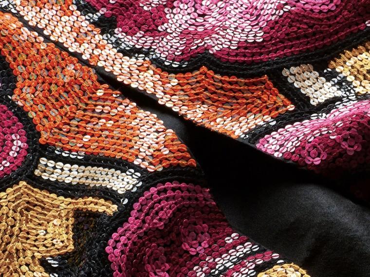 Rouge orangé Robe t-shirt à sequins brodés à la main Rouge Orangé - cell image 1