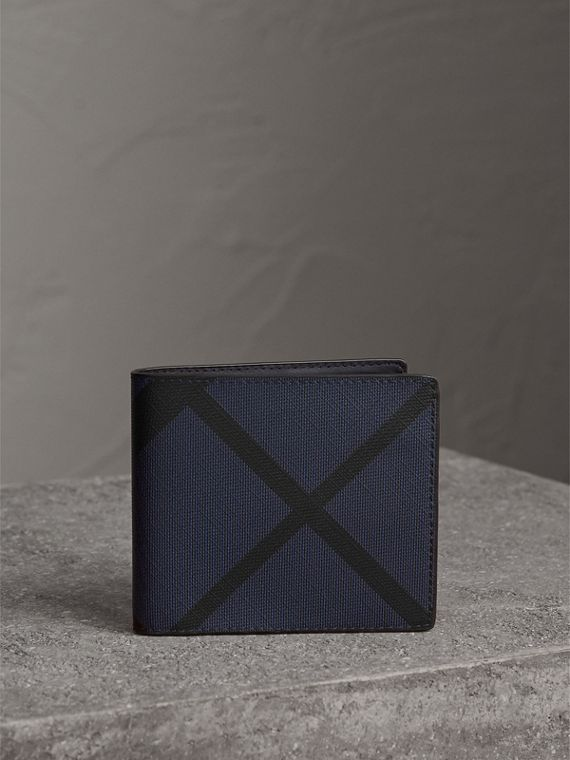 London Check International Bifold Wallet in Bright Lapis - Men | Burberry - cell image 3
