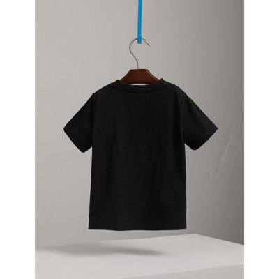 Burberry - T-shirt en coton avec poche à motif check - 4