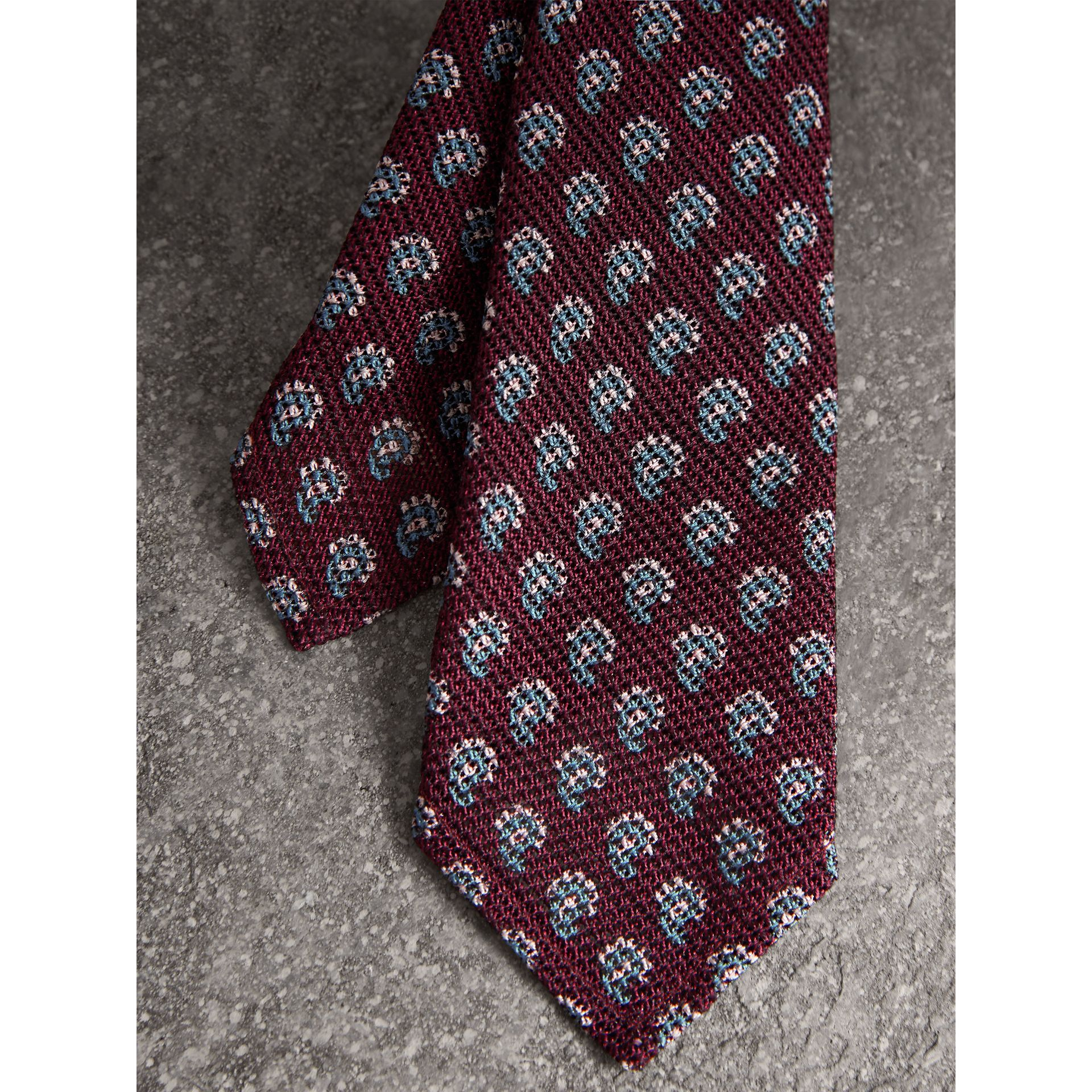 Slim Cut Paisley Silk Tie in Parade Red - Men | Burberry - gallery image 1