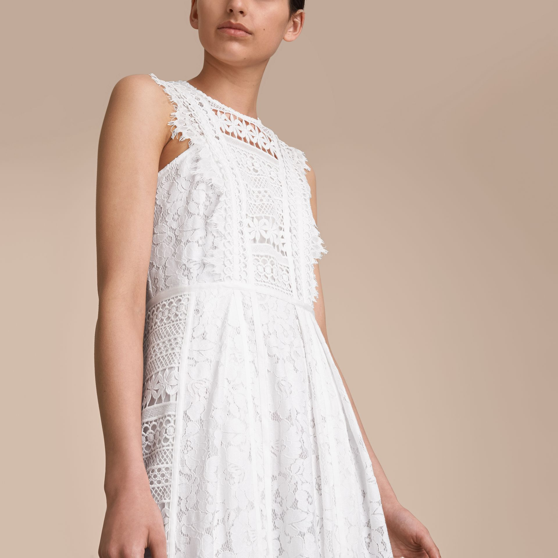 Sleeveless Macramé Lace Dress - gallery image 5