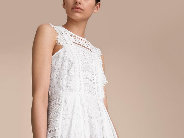 Sleeveless Macramé Lace Dress - cell image 4