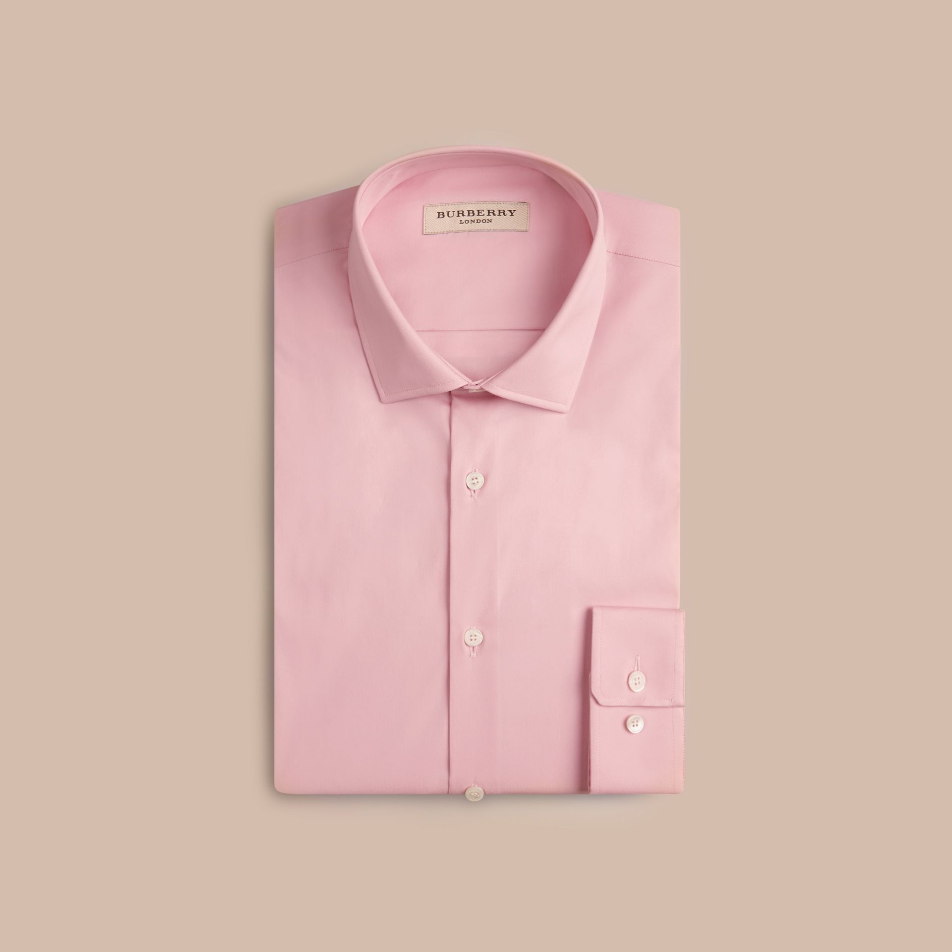 City pink Slim Fit Stretch Cotton Poplin Shirt City Pink - gallery image 4