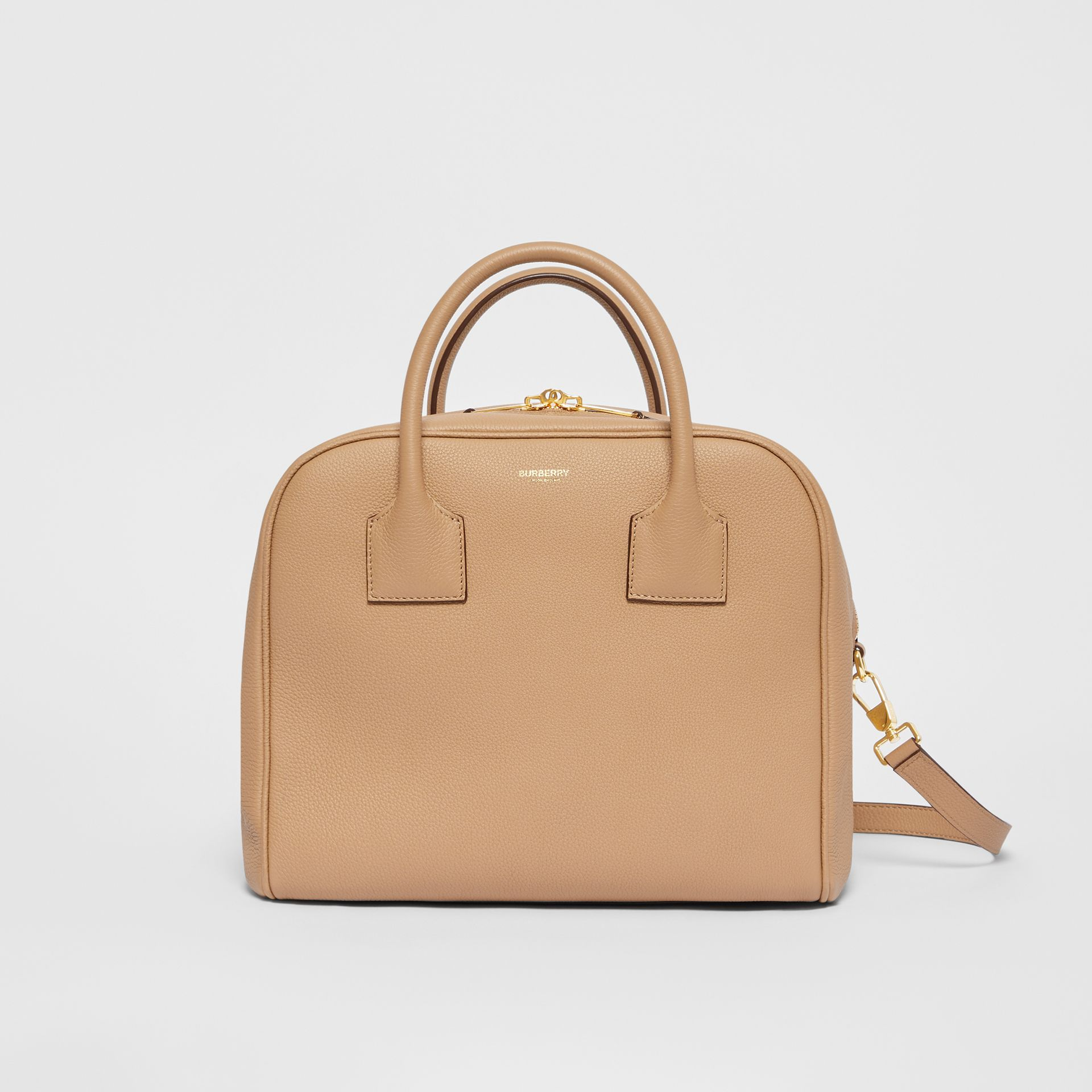 Medium Leather Cube Bag in Biscuit - Women | Burberry - gallery image 0