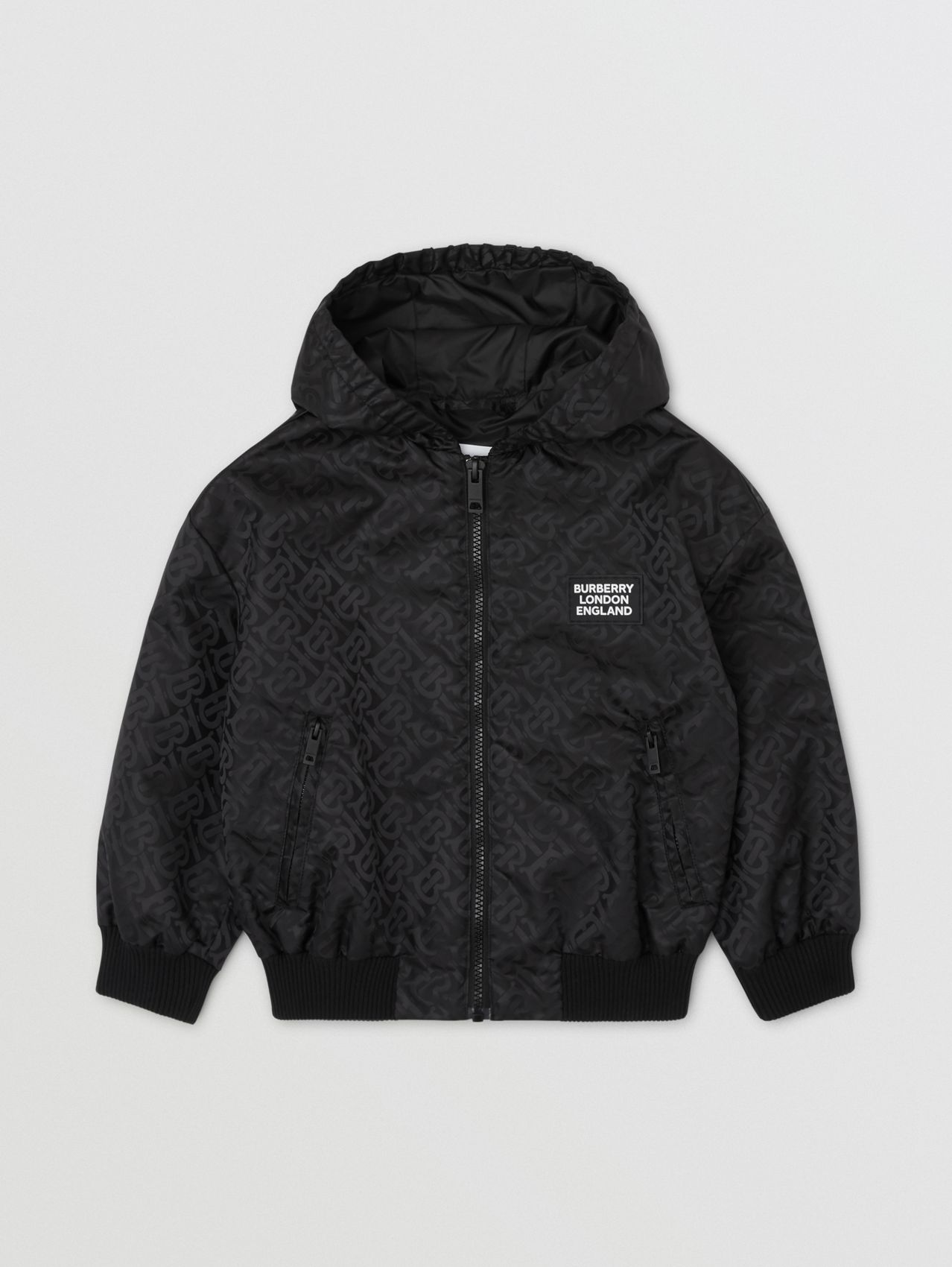 Monogram ECONYL® Hooded Jacket in Black