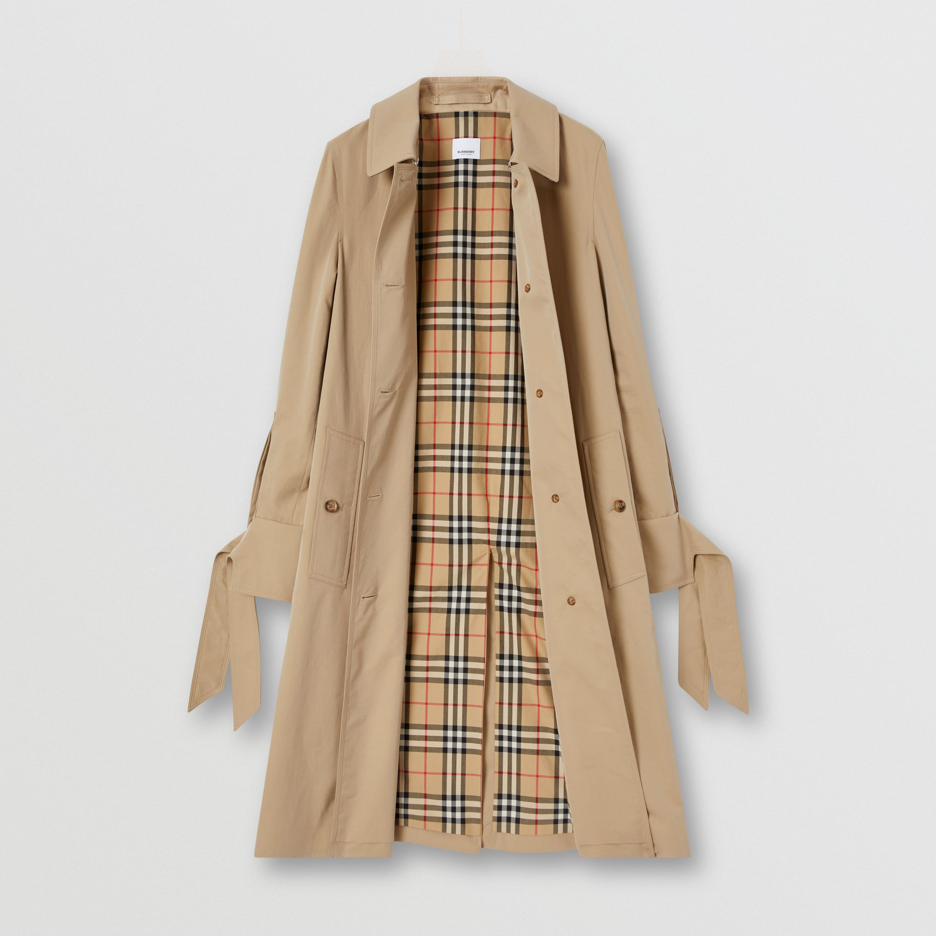 Tropical Gabardine Car Coat in Honey - Women | Burberry - gallery image 7
