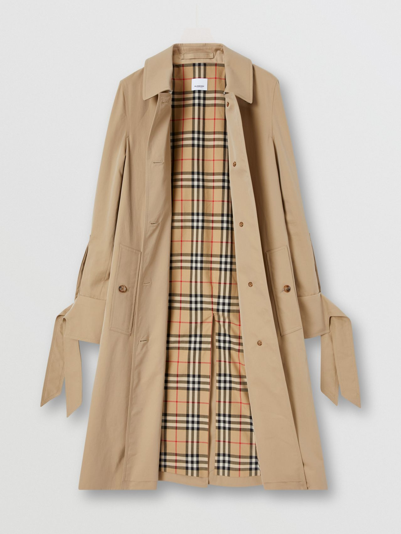 Tropical Gabardine Car Coat in Honey