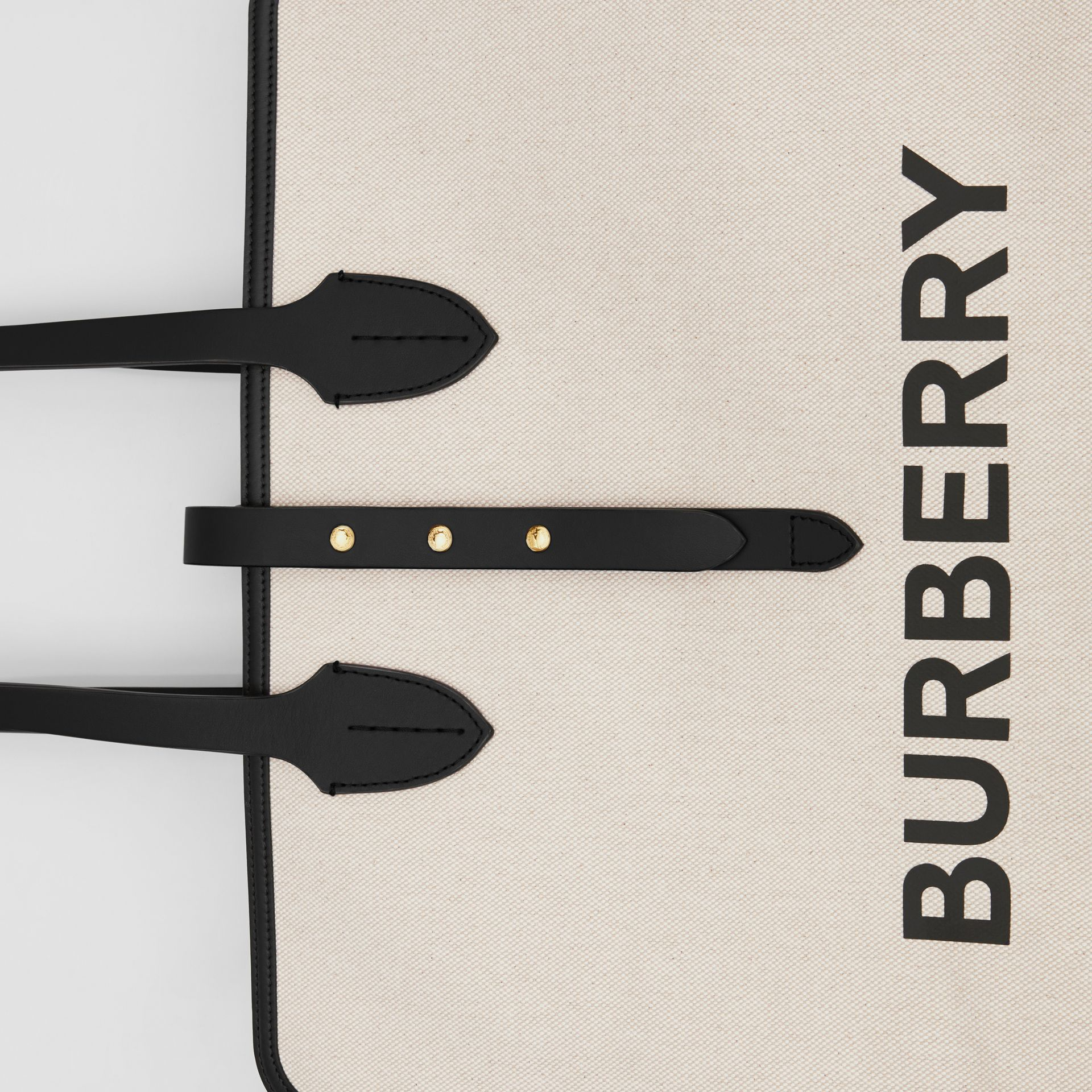 The Medium Soft Cotton Canvas Belt Bag in Black - Women | Burberry Singapore - gallery image 1