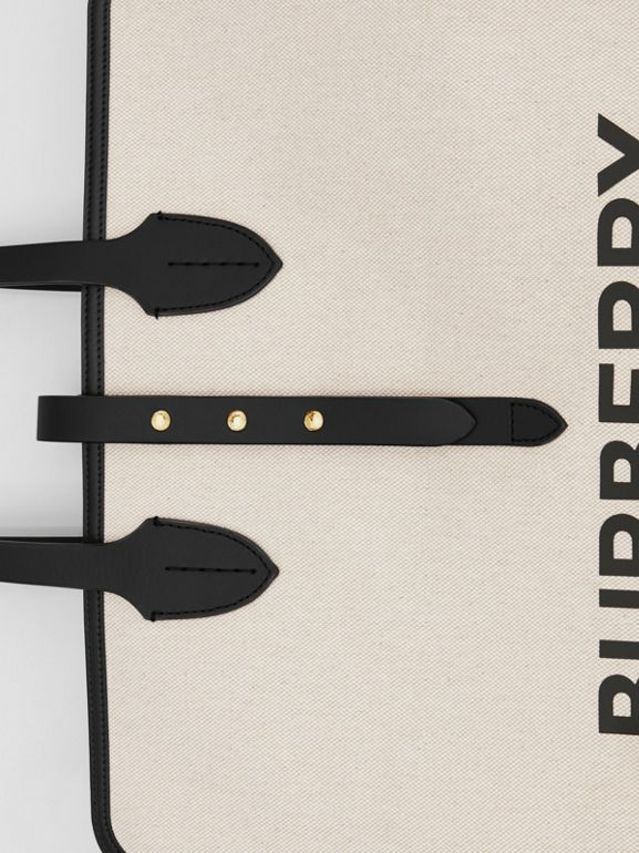 The Medium Soft Cotton Canvas Belt Bag in Black - Women | Burberry Singapore - cell image 1