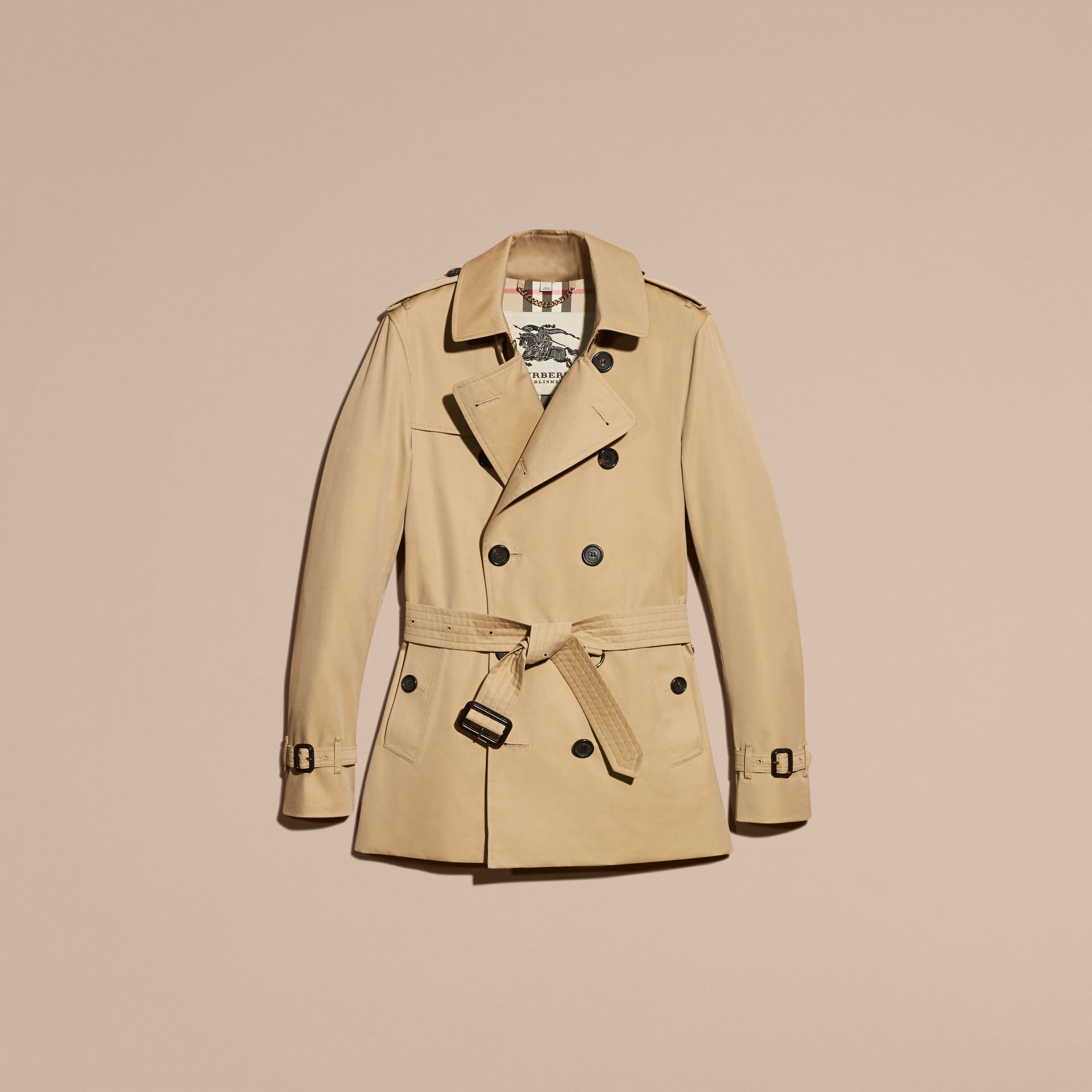 Honey The Sandringham – Short Heritage Trench Coat Honey - gallery image 4
