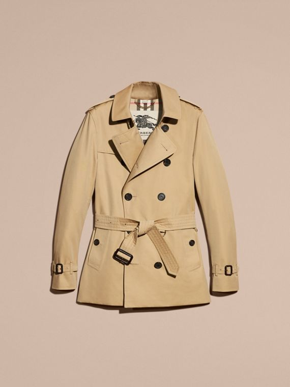 Honey The Sandringham – Short Heritage Trench Coat Honey - cell image 3