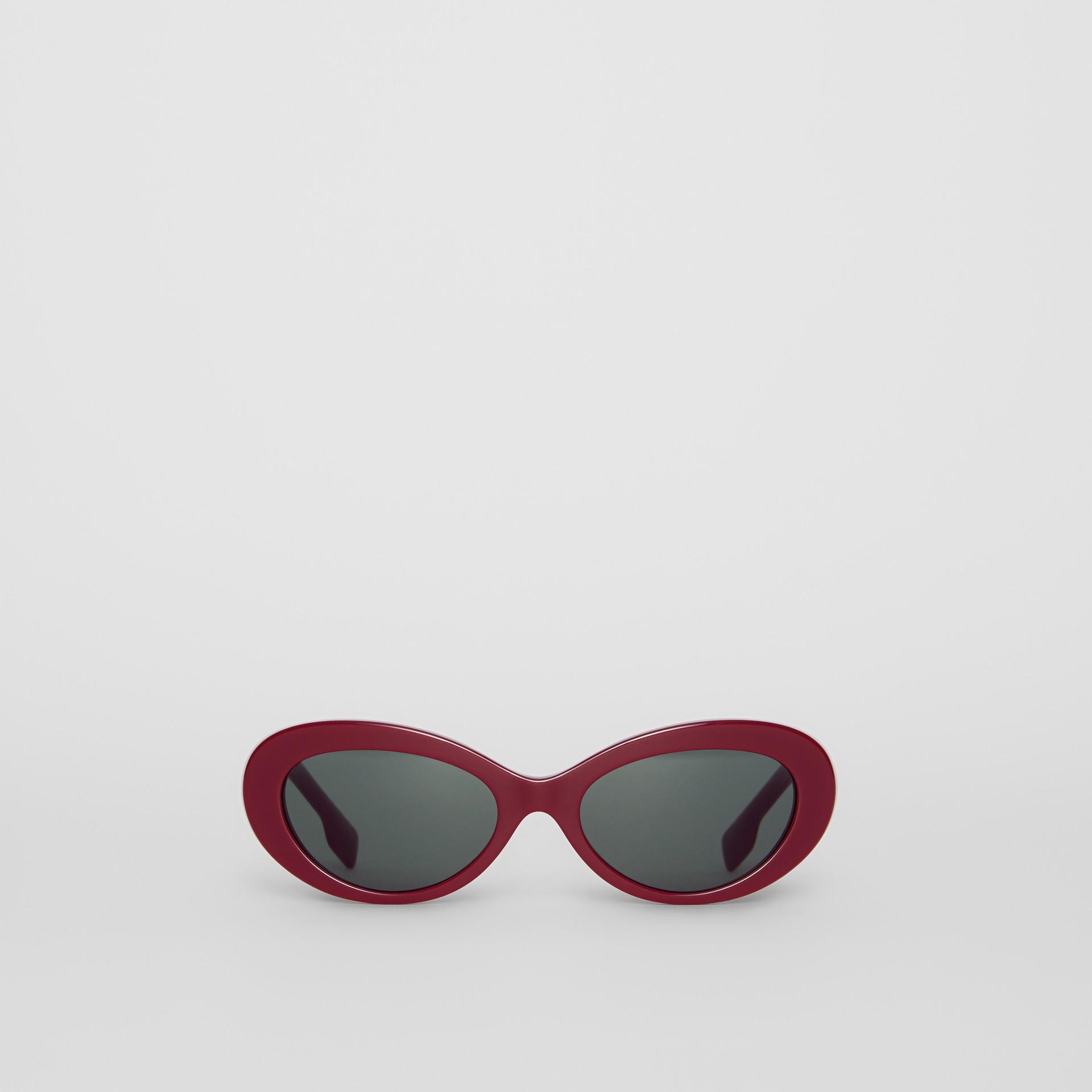 Cat-Eye-Sonnenbrille (Burgunderrot) - Damen | Burberry - Galerie-Bild 0