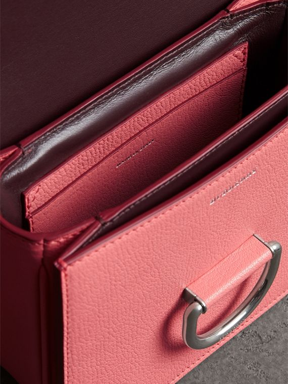 The Small Leather D-ring Bag in Bright Coral Pink - Women | Burberry - cell image 3