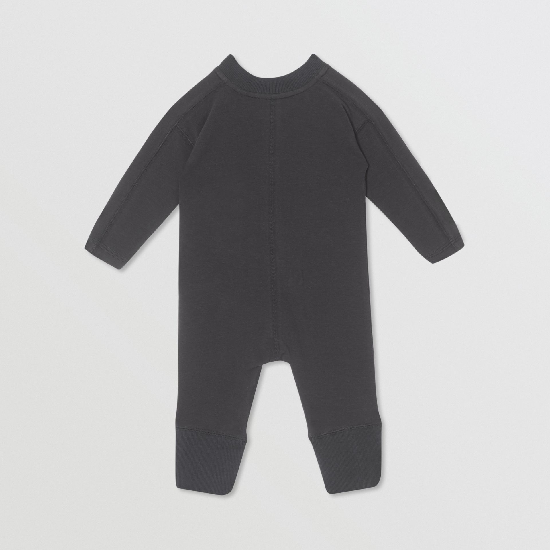 Logo Print Organic Cotton Two-piece Baby Gift Set in Black - Children | Burberry United Kingdom - gallery image 4