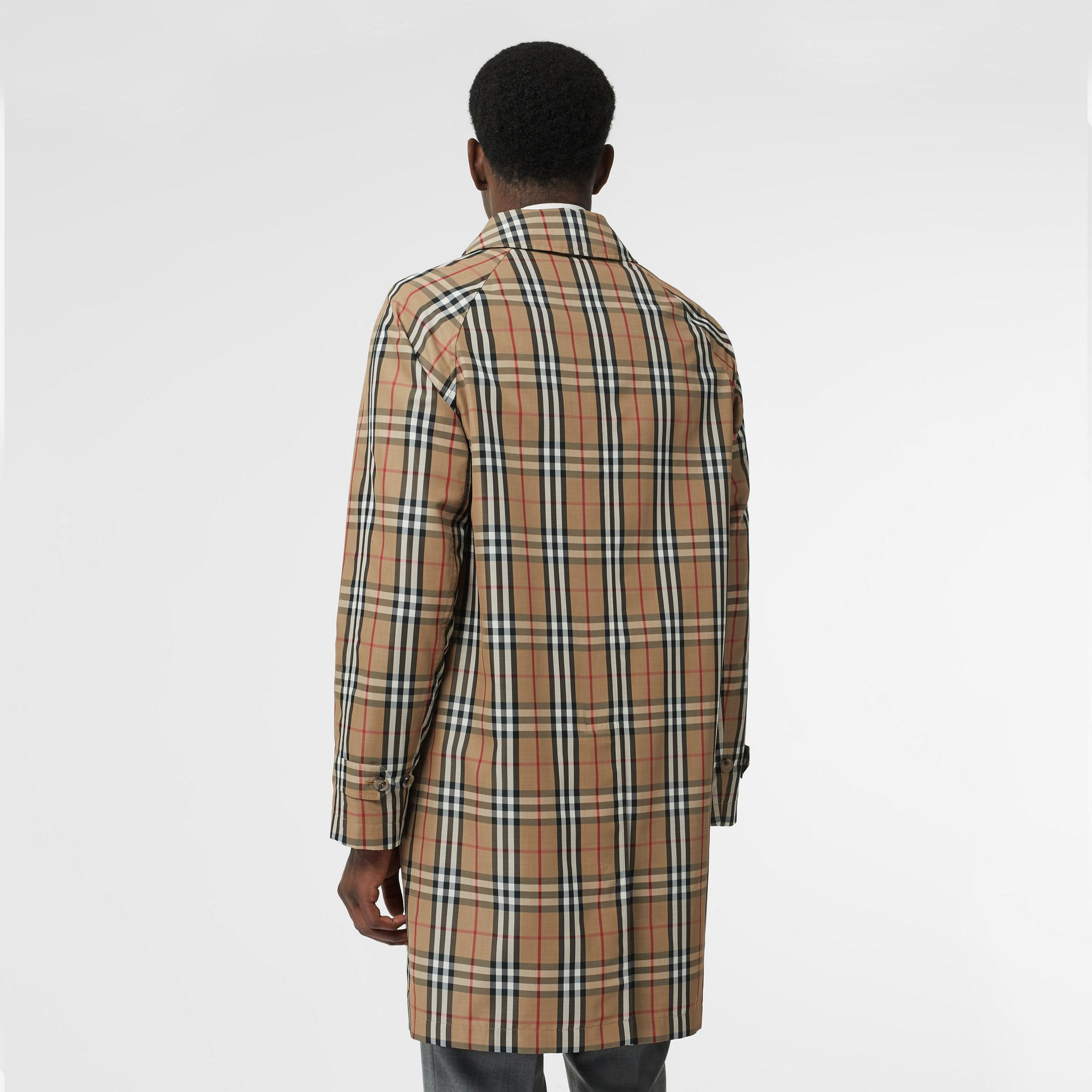 Vintage Check Car Coat in Archive Beige - Men | Burberry Australia - gallery image 2