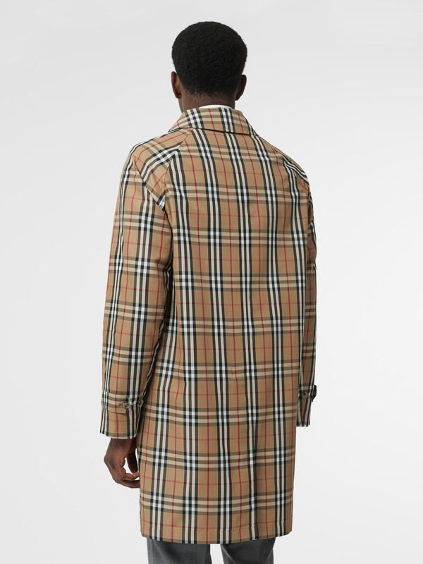 Vintage Check Car Coat in Archive Beige - Men | Burberry - cell image 2