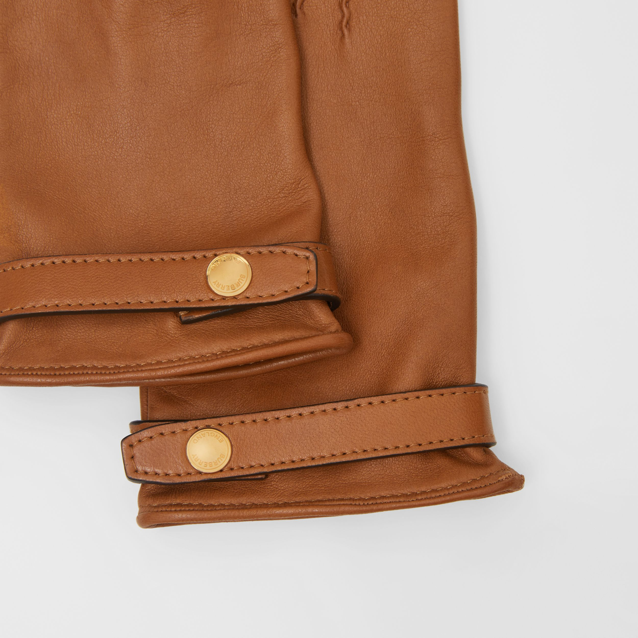 Silk-lined Lambskin Gloves in Brown | Burberry - 2